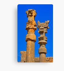 Capital Columns - Persepolis - Iran Canvas Print