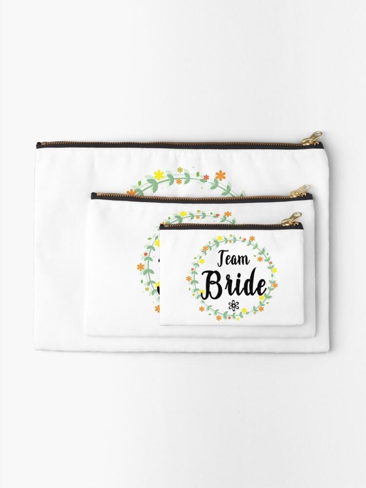 Alternate view of TEAM BRIDE V1 (b) Zipper Pouch