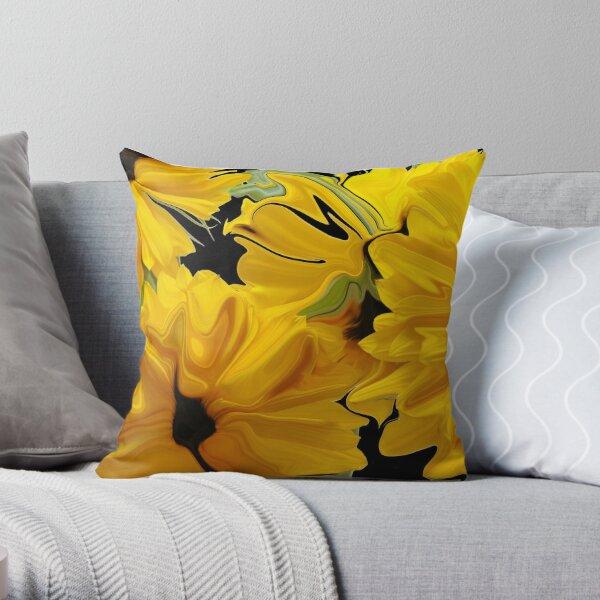 Sunflowers in Silk Throw Pillow