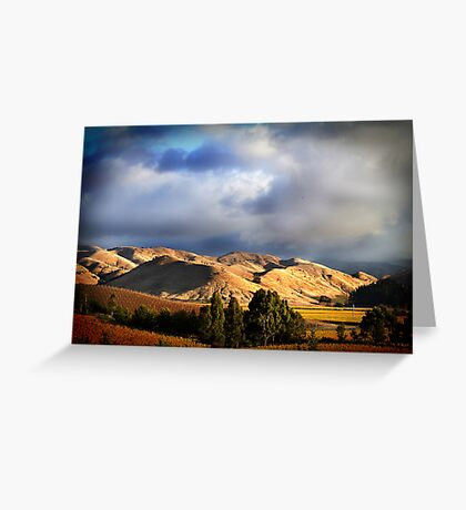 Wither Hills Autumn Afternoon Greeting Card