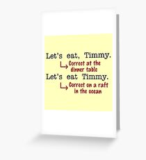 Funny Punctuation Grammar Humor Greeting Card