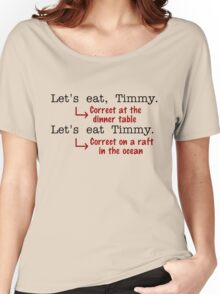 Funny Punctuation Grammar Humor Women's Relaxed Fit T-Shirt
