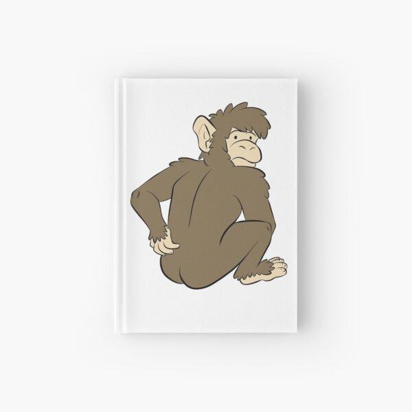 Monkey caught scratching butt Hardcover Journal