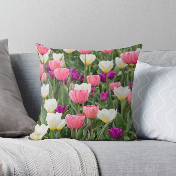 Pastel Field Throw Pillow