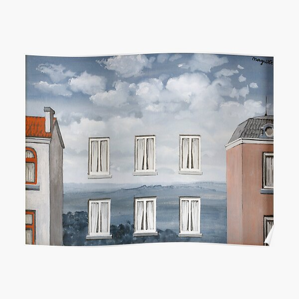 L'état de veille 'The waking state' 1958, Artwork by Rene Magritte For Prints, Posters, Shirts, Bags Men Women Kids Poster