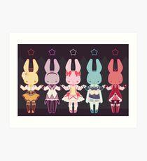 Puella Magi Bunny Magica Art Print