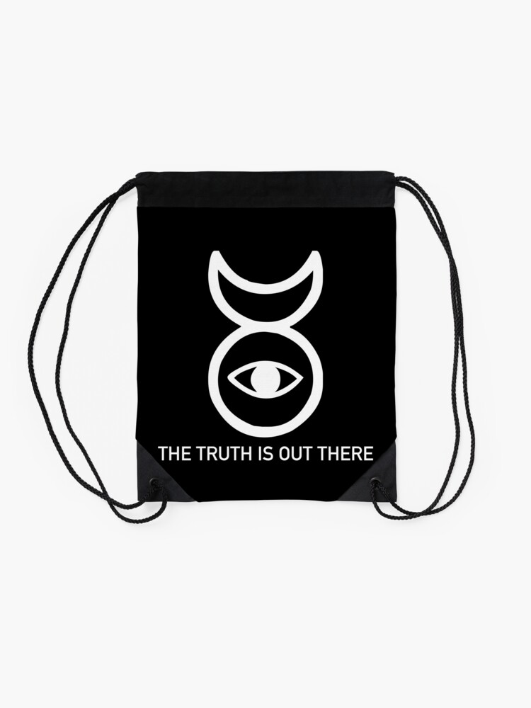 Alternate view of THE TRUTH IS OUT THERE (w) Drawstring Bag