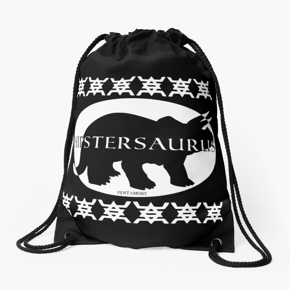 HIPSTERSAURUS (w) Drawstring Bag