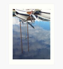 Clouded Masts Art Print