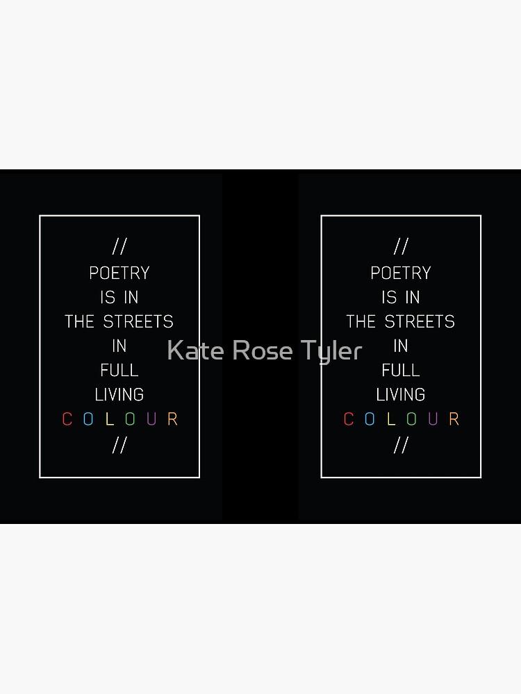 Poesie in den Straßen von kateroseaustin