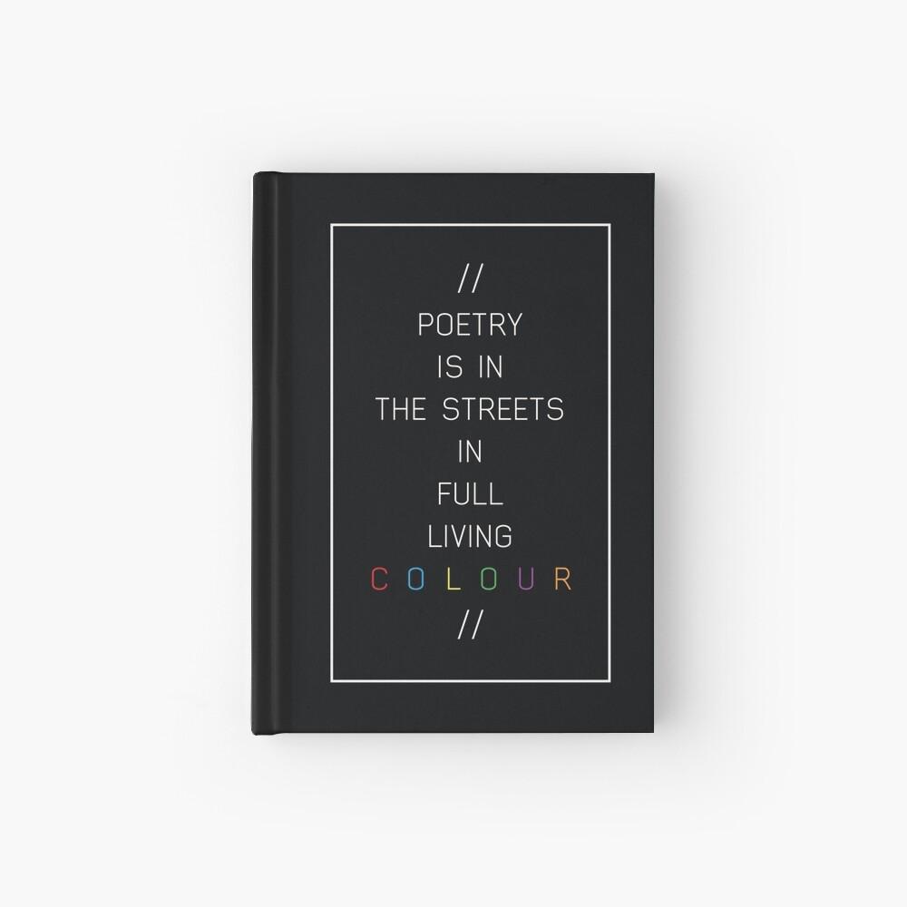 Poesie in den Straßen Notizbuch