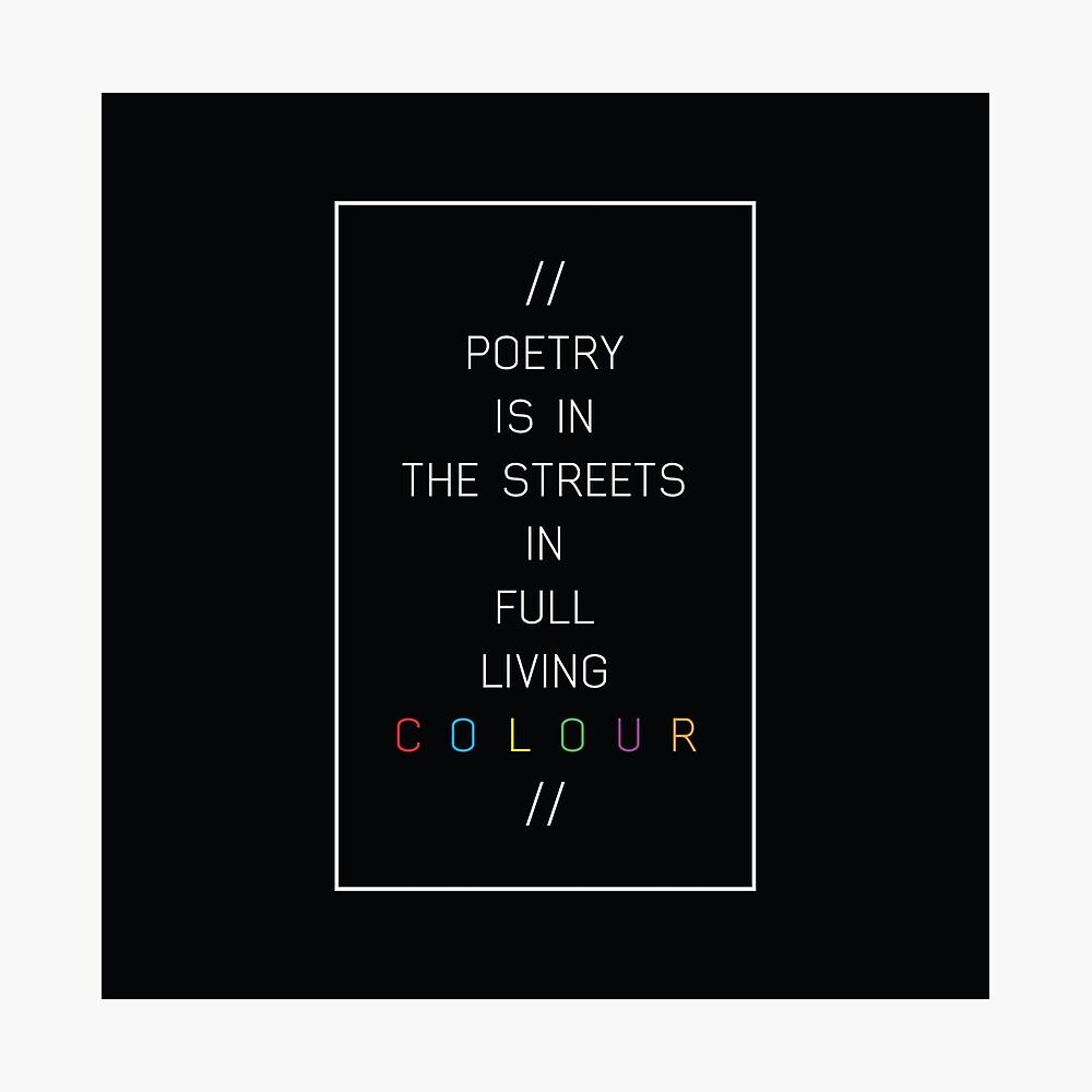 poesía en las calles Lámina fotográfica