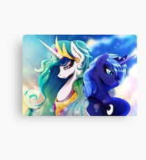 Sisters of Canterlot - with Background Canvas Print