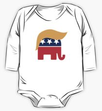 Trump Republican Elephant One Piece - Long Sleeve
