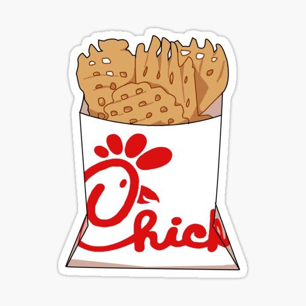 fil a fries Sticker