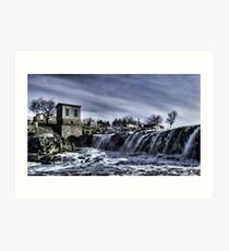 The Falls Of The Great Sioux River Art Print
