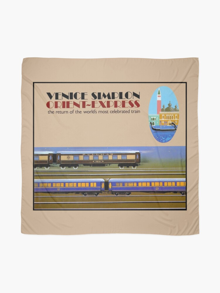 Alternate view of VENICE SIMPLON : Vintage Orient-Express Print Scarf