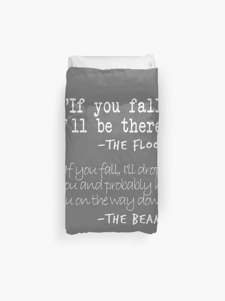 46d76a9b Funny Gymnastics Quotes Designs If You fall floor beam Quote for Gymnasts  Duvet Cover