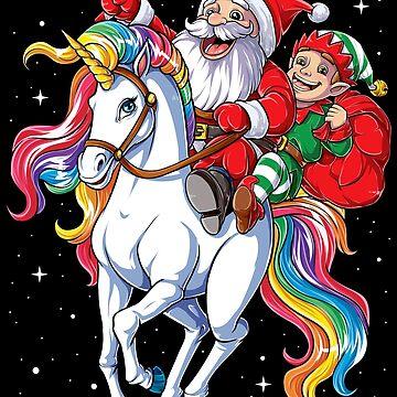 Camisas de Navidad para Niños Niños Niñas Elf Santa Unicornio Regalos de LiqueGifts