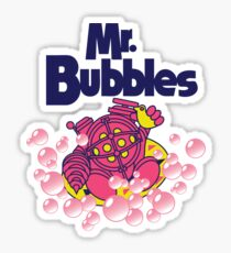 Mr. Bubbles Sticker