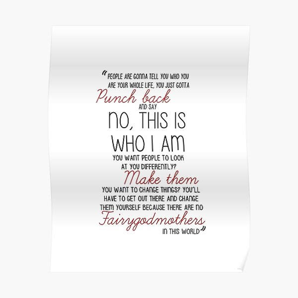 Once Upon a Time - Emma Swan Quote Red Poster