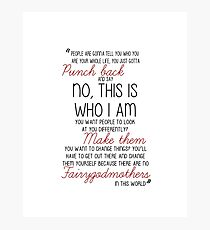 Once Upon a Time - Emma Swan Quote Red Photographic Print