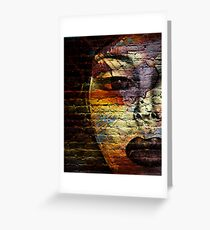 Woman on the Wall Greeting Card