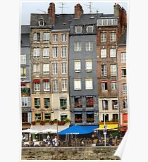 Tall buildings of Honfleur,  France Poster