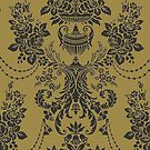Damask Pattern – Classic Gold and Black by BigAl3D