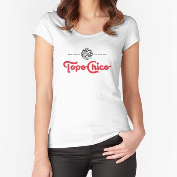 topo chico mineral water Fitted Scoop T-Shirt