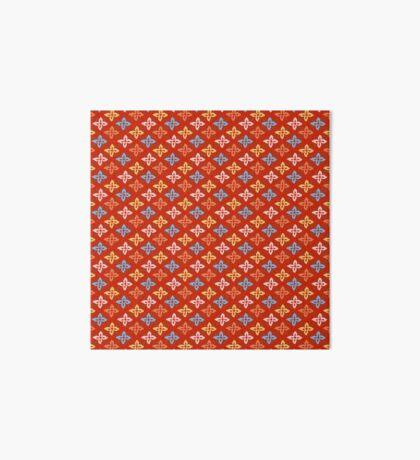 Las Flores - Red 01 (Patterns Please) Art Board Print