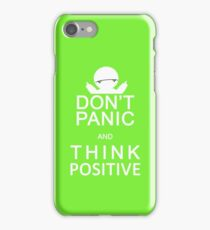 Marvin the Paranoid Android - Don't panic and think positive. iPhone Case/Skin