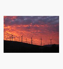 Malibu windfarm sunset-2 Photographic Print