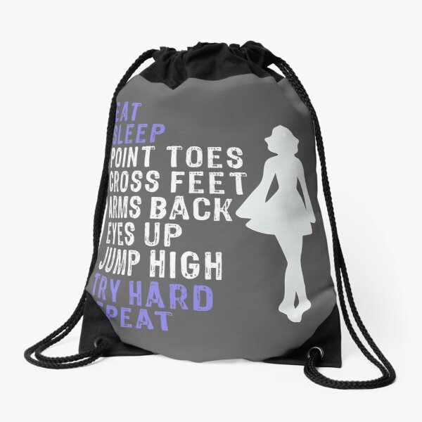 Awesome Girls Irish Dance Gift Eat Sleep Repeat Irish Dance Drawstring Bag