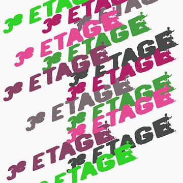 3e Etage • Fuchsia & Green by MINGsign