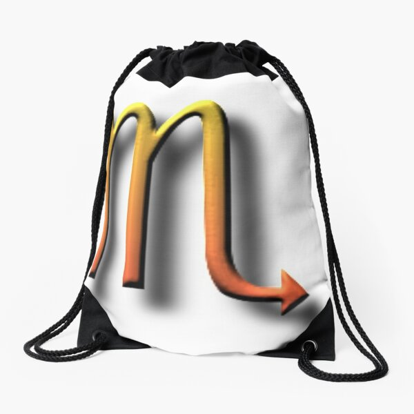 "#Unicode #Character ""♏"" (U+264F) ♏ #Name: #Scorpius Drawstring Bag"