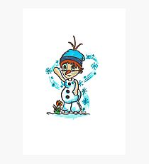 Cosplay Kids - Olaf Photographic Print