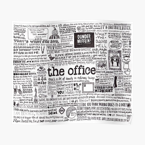 A Visual Representation of the Office Poster