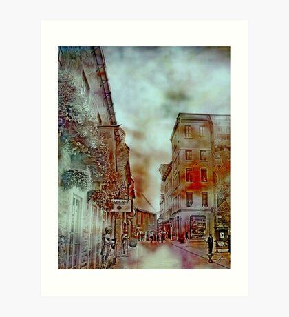 Streets of Quebec City  Art Print