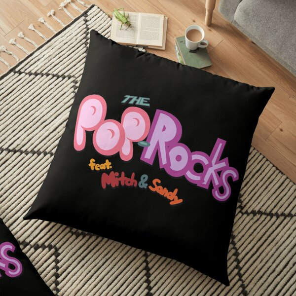 Pop-Rocks title logo Floor Pillow