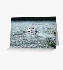 A Paddle At Sturbridge Greeting Card