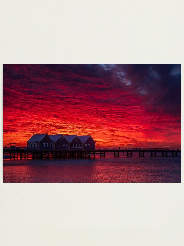 Alternate view of Sunset over Busselton Jetty Photographic Print
