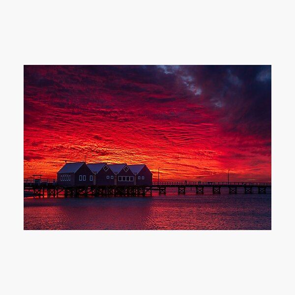Sunset over Busselton Jetty Photographic Print