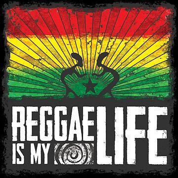reggae is my life - dein neues Raggae-Shirt, der Festivalsommer kann kommen! von Periartwork
