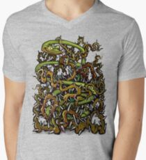 Serpent n Thorns Mens V-Neck T-Shirt