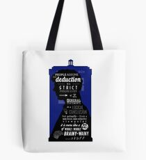 Wholock - A Study in Deduction Tote Bag
