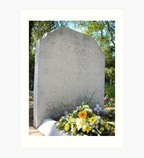 The grave of T E Lawrence Art Print