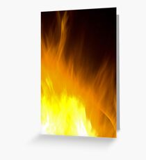 Fire Art Greeting Card