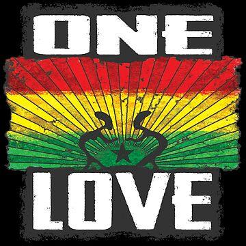 one love reggae - dein neues Raggae-Shirt, der Festivalsommer kann kommen! von Periartwork