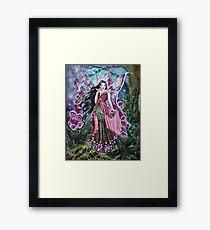 Foxglove digitalis fairy faerie, elf, pixie, fantasy Framed Print